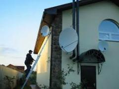 Installation of satellite antennas and T2 in the Primorsky district of Odessa
