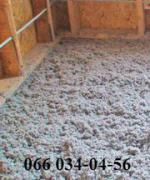 Insulation Ecowool thermal insulation