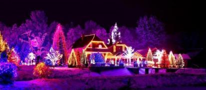 New Year's lighting, garlands, illuminations in Kiev