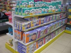 Racks, equipment for children's products, toys, food